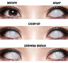 halloween contacts princess pinky cosplay white mesh pinkyparadise