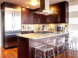 kitchen island table with brown wooden counter for small