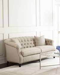 Beige Tufted Sofa by Naturelle Linen Tufted Sofa