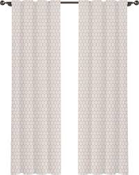 Brentwood Originals Curtains Necr Print Mosaic Geometric Semi Sheer Rod Pocket Curtain Panel