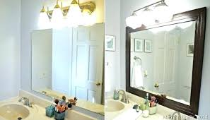 Frame A Bathroom Mirror With Molding How To Frame Bathroom Mirror With Molding Mirror With Crown