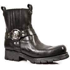 motorcycle footwear mens m 7605 s1 black new rock motorcycle ankle boots motorcycle boots