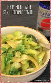 color your recipes u2013 celery salad with organic san j tamari gluten