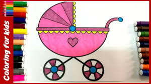 coloring pages baby car drawing pages learn colors fast for kids