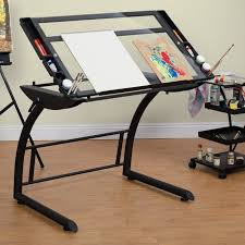 Walmart Drafting Table Computer Desk With Drafting Table Studio Designs Triflex Glass