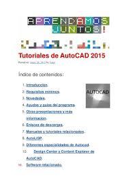 tutorial de autocad 2015