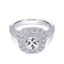 gold cushion cut engagement rings cushion cut diamond engagement rings gabriel co