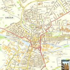 lincoln city map lincoln offline map including cathedral quarter castle
