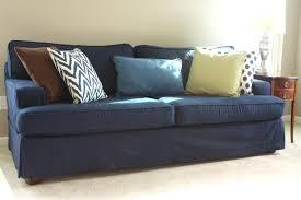 2 Piece Stretch Sofa Slipcover Sure Fit Stretch Suede T Cushion Sofa Slipcover Lexington Blue