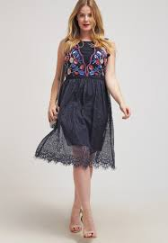 frock and frill curve wilma cocktail dress party dark navy