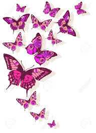 butterfly on flower design clipart