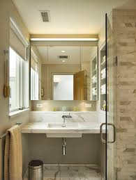 Transitional Vanity Lighting Robern Mirrors With Inset Shelves Bathroom Transitional And Beige