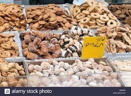 assortments of pastries and cookies for sale at machane yehuda