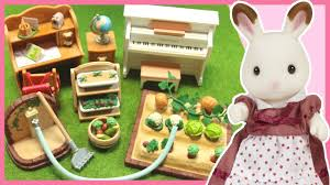 Sylvanian Families Garden Set Sylvanian Families Calico Critters Mini Set Unboxing Youtube