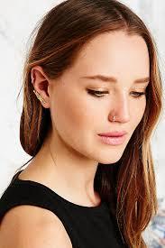 ear climber earring lyst outfitters leaf ear climber earring in gold in metallic