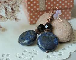 bluestone earrings blue earrings etsy