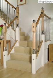 Modern Banisters Uk Solution Stair Parts Axxys Stairs Oak Stairparts Stair Kits