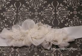 wedding dress sashes custom made wedding dress sash silk organza flowers and pearls