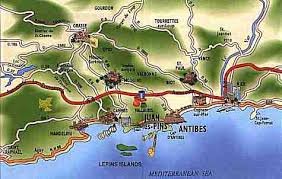 map of antibes cap d antibes accommodation to rent apartment in villas
