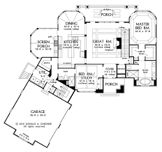 cottage style house plan 4 beds 4 baths 3123 sq ft plan 929 992