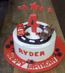 lightning mcqueen birthday cake cars birthday cake complete with lightning mcqueen and mater
