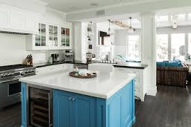 square island kitchen white kitchen turquoise blue island cottage kitchen