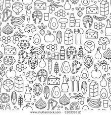 seamless pattern food seamless pattern healthy food icons stock vector 530338612