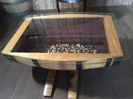 wine tables and racks glass top wine barrel coffee table without wine racks live oak