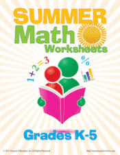 summer math worksheets teachervision