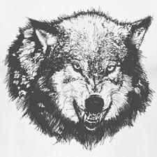 mcr designs wolf growling shirt mens t shirt