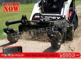 1220 mm mini power rake suit manual angle terex asv pt30 rc30 mini