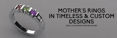 mothers rings pictures images Custom mother 39 s rings in gold platinum free shipping gif