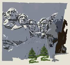 Mt Rushmore Map Mount Rushmore Clipart