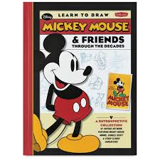 learn draw mickey mouse u0026 friends decades blick