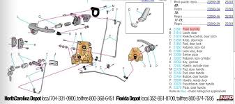 ford focus door handle parts door handle linkage rod questions vintage mustang forums