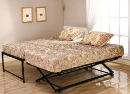 Trundle Bed Frame And Mattress Bed Frames Day With Pop Up Trundle Designs Beds Frames Creative