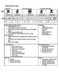 floor hockey unit plan floor hockey lesson plan by pe and health items tpt