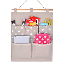 home cube linen cotton fabric wall door cloth hanging storage bag