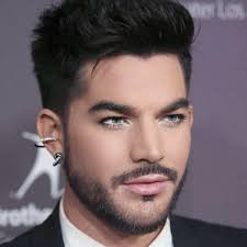 adam lambert earrings you i m weak for the hair and suit the earrings add a
