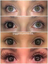 mini black sclera contacts