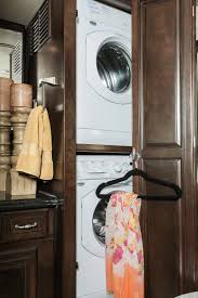 interior design enchanting stackable washer dryer with dark wood