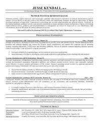 Network Security Resume Sample by System Administrator Resume Sample Jennywashere Com
