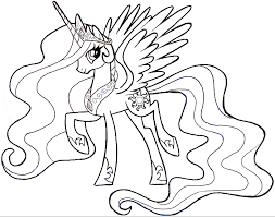 coloring marvelous simple pony drawing finished princess