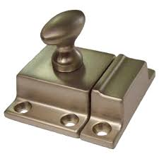 brushed nickel cabinet or cupboard latch