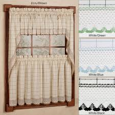 Green Kitchen Curtains by 36 Inch Kitchen Curtains Trends Also Chf You Cafe Au Lait Images