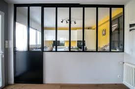 design d intérieur porte vitree cuisine verriere cloison vitrace