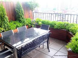 Rooftop Garden Design Nyc Roof Garden Terrace Composite Deck Planter Boxes Container