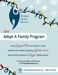 donors give the gift of through adopt a family program