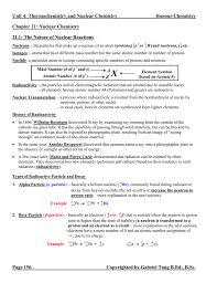 chapter 21 nuclear chemistry notes answers
