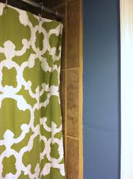 Brown And White Shower Curtains Of Blue Brown And Some Avocado Green U2013 The Orange Slate
